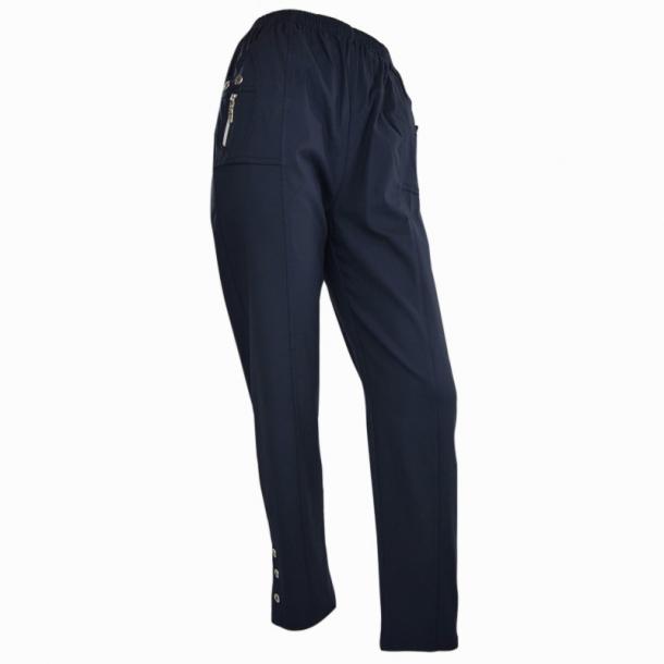 Bukser Med Superstretch Og High Waist Blå