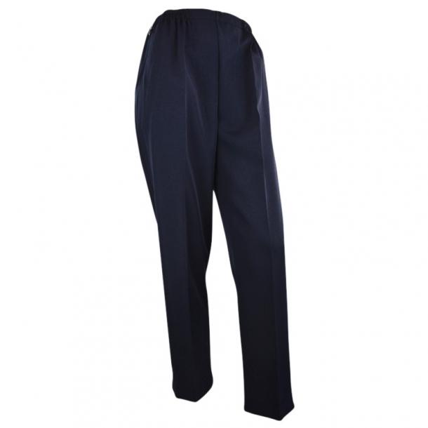 Bukser Med Høj Talje og Elastik I Livet Blå