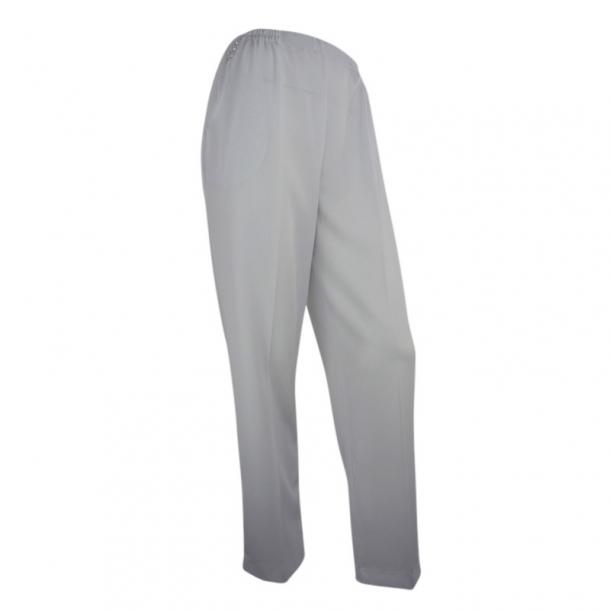 Bukser Med Høj Talje og Elastik I Livet Hvid