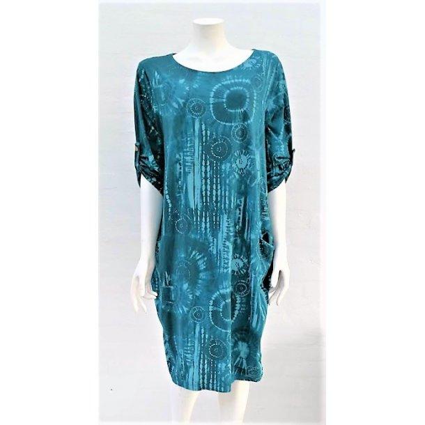 Kjole med Batik Mønster