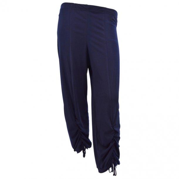 Cropped Bukser Med Rip Mørke Blå