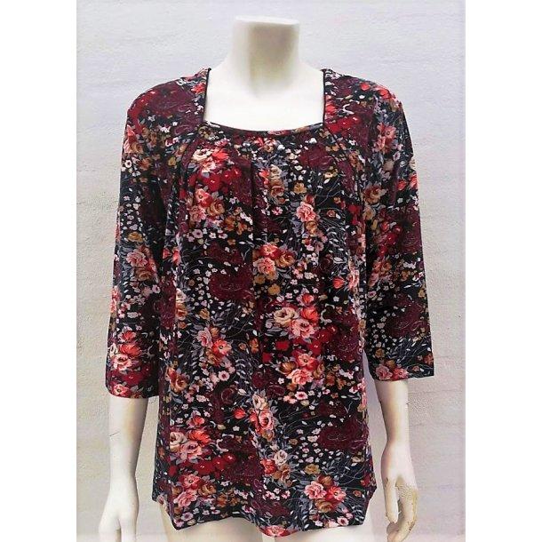 Blomstret Bluse